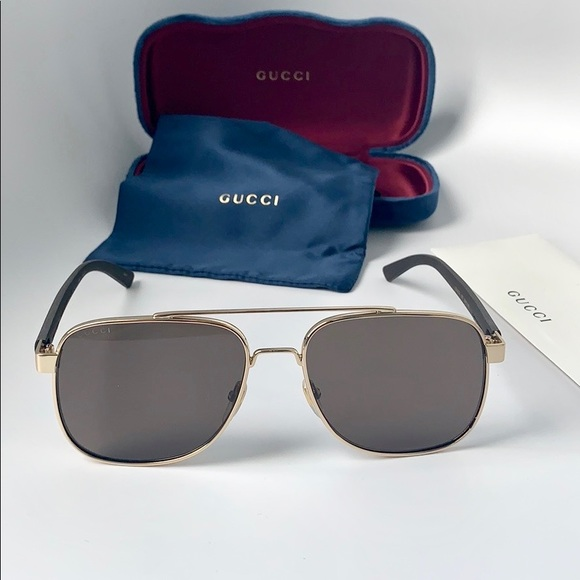 0e76d73d897 Gucci Men Sunglasses Pilot Metal GG0422S-003